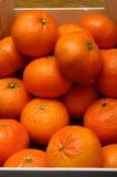 Pacchetto arancio dei mandarini Immagini Stock Libere da Diritti