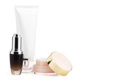 Pacchetto cosmetico in bianco per progettazione del modello Immagine Stock