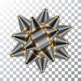 Pacchetto d'argento dell'elemento della decorazione del nastro dell'arco Immagine Stock Libera da Diritti