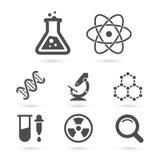 Pacchetto d'avanguardia delle icone di scienza Elementi di vettore Fotografia Stock