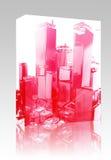 Pacchetto d'esplosione della casella della città Fotografie Stock