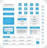 Pacchetto degli elementi di Web Fotografia Stock Libera da Diritti