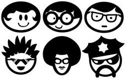 Pacchetto degli emoticon del fronte Immagine Stock Libera da Diritti