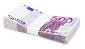 Pacchetto degli euro Fotografia Stock Libera da Diritti