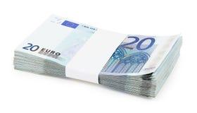 Pacchetto degli euro Immagine Stock Libera da Diritti