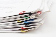 Pacchetto dei fogli di carta Immagine Stock