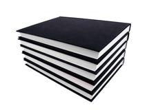 Pacchetto dei libri su priorità bassa bianca Immagini Stock