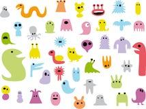 Pacchetto dei mostri di doodle Immagine Stock