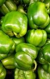 Pacchetto dei peperoni verdi Fotografia Stock Libera da Diritti