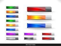 Pacchetto dei tasti di Web Fotografia Stock