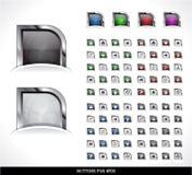 Pacchetto dei tasti di Web Immagine Stock