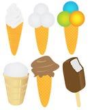 Pacchetto del gelato Fotografia Stock