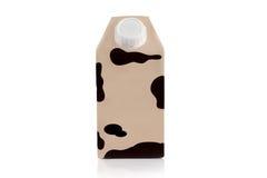 Pacchetto del latte di deposito a lungo termine su un fondo bianco su un whi Fotografia Stock Libera da Diritti