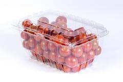 Pacchetto del pomodoro ciliegia Fotografia Stock