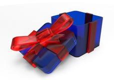 pacchetto del regalo avvolto nastro Fotografie Stock