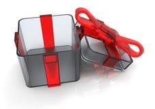 pacchetto del regalo avvolto nastro Immagini Stock Libere da Diritti