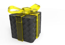 pacchetto del regalo avvolto nastro Fotografia Stock