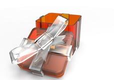 pacchetto del regalo avvolto nastro Fotografia Stock Libera da Diritti