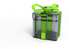 pacchetto del regalo avvolto nastro Immagini Stock