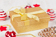 Pacchetto del regalo di natale Fotografia Stock
