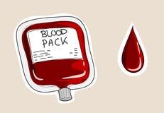Pacchetto del sangue Fotografie Stock Libere da Diritti