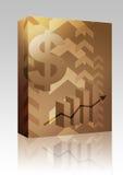 Pacchetto della casella dell'illustrazione di successo del dollaro illustrazione di stock