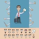 Pacchetto della costruzione dell'uomo di affari Fotografie Stock
