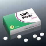 Pacchetto della medicina di effetti collaterali Immagine Stock