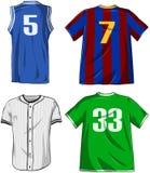 Pacchetto delle camice di sport Fotografie Stock Libere da Diritti