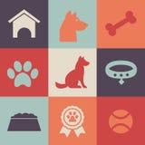 Pacchetto delle icone del cane illustrazione di stock