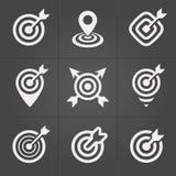 Pacchetto delle icone dell'obiettivo per l'interfaccia del cellulare di affari Fotografie Stock