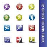 Pacchetto delle icone di sport Fotografie Stock