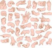 Pacchetto delle mani del bambino Immagini Stock Libere da Diritti