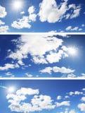 Pacchetto delle nubi di panorama Fotografie Stock