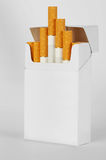Pacchetto delle sigarette Immagini Stock Libere da Diritti