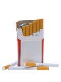 Pacchetto delle sigarette. Fotografia Stock