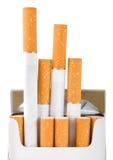 Pacchetto delle sigarette (percorso) Fotografie Stock Libere da Diritti
