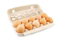 Pacchetto delle uova Fotografia Stock