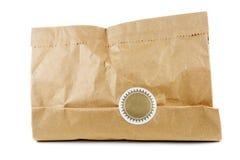 Pacchetto di carta marrone sigillato fotografie stock