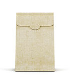 Pacchetto di carta su fondo bianco Front View rende 3D Immagine Stock