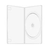Pacchetto di plastica per il disco del dvd, modello di vettore Fotografia Stock