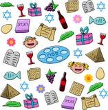 Pacchetto di simboli di festa di pesach Fotografia Stock
