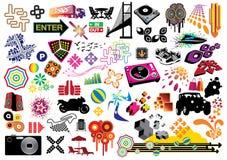 Pacchetto di valore: Elementi di disegno Immagini Stock