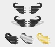Pacchetto di vettore dell'illustrazione delle ali Immagine Stock