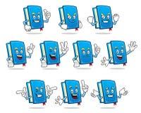 Pacchetto di vettore della mascotte del libro, serie di caratteri del libro, vettore dei libri Immagini Stock Libere da Diritti