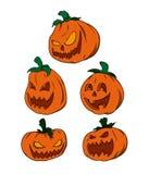 Pacchetto di vettore - zucche di Halloween Fotografia Stock