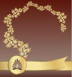 Pacchetto dorato reale illustrazione di stock