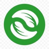 Pacchetto libero di plastica riciclabile, modello d'imballaggio biodegradabile dell'icona di vettore Bio- etichetta verde degrada fotografia stock