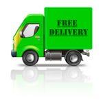 Pacchetto libero di trasporto del camion di consegna dal negozio di Web illustrazione vettoriale