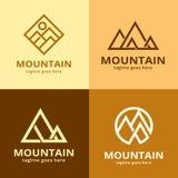 Pacchetto Logo Template Design Vector della montagna Fotografie Stock Libere da Diritti